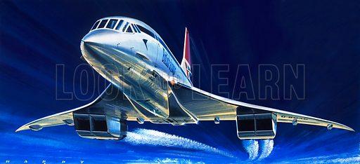 Concorde, Franco-British supersonic airliner.