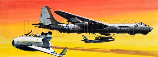 Unidentified aircraft. Original artwork loaned for scanning by the Illustration Art Gallery.