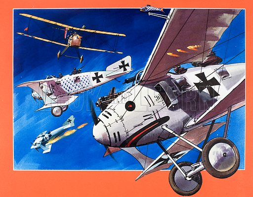 Planes from the Past: The Roland C-11. From Look and Learn no. 741 (27 March 1976). Original artwork.