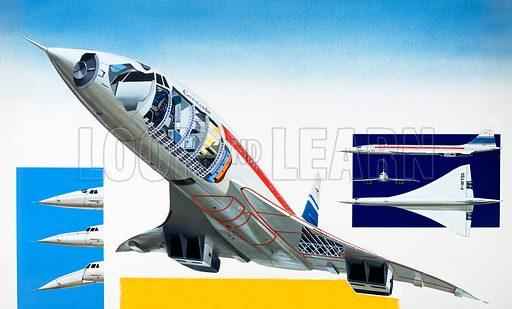 Concorde. From World of Wonder (1970). Original artwork.