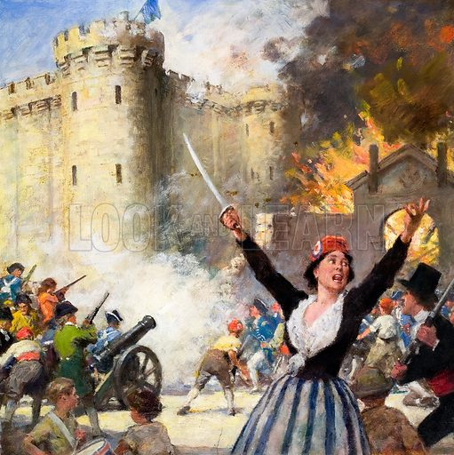 Storming of the Bastille, Paris, French Revolution, 14 July 1789.