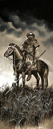 Mongolian warrior. Original artwork.
