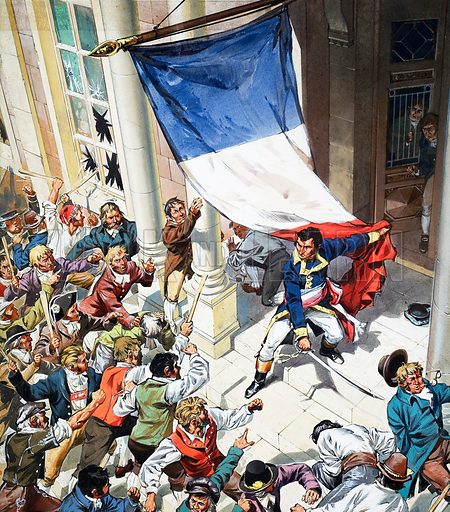 Sweden Chooses a French King. Original artwork from Look and Learn no. 299 (7 October 1967). In January 1788, Napoleon sent Marshal Bernadotte to Vienna as ambassador. In April, a mob attacked the French embassy. During the riot, Bernadotte distinguished himself by holding off the rioters single-handed.
