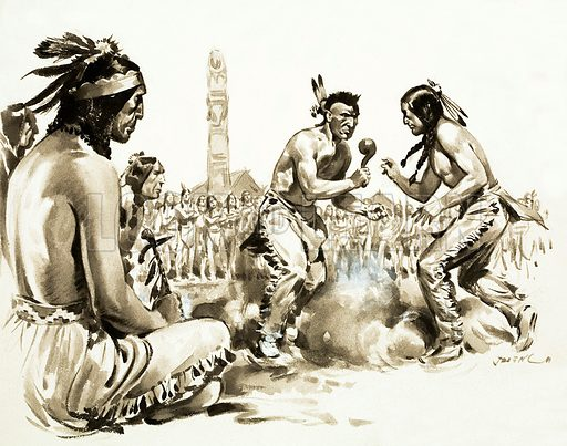 What Really Happened? There Really was a Hiawatha. Original artwork from Look and Learn no. 119 (25 April 1964).