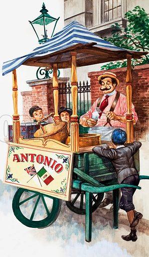 Victorian ice-cream seller.