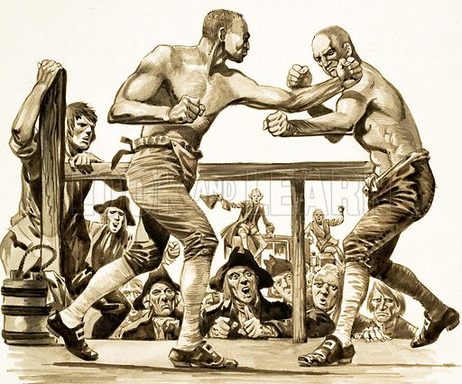 Bare-knuckle fighting, picture, image, illustration