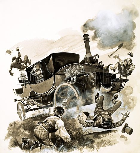 The History of the Motor Car. Original artwork from Look and Learn no. 506 (25 September 1971).