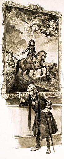 History's Heroes: The Soldier Who Never Lost a Battle. Original artwork from Look and Learn no. 560 (7 October 1972).