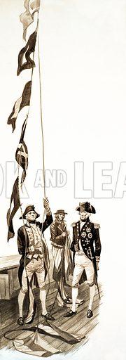 The Wonderful Story of Britain: The Battle of Trafalgar. Original artwork from Treasure no. 159 (29 January 1966).