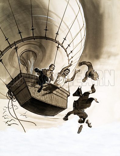 picture, Jean-Pierre Blanchard, Dr John Jeffries, balloon, English Channel