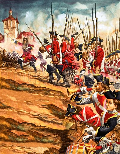The Battle of Blenheim.
