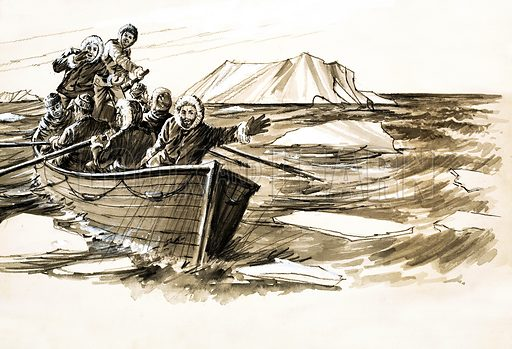 Captain Ross and crew, picture, image, illustration