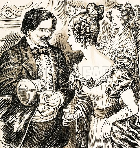 Honore de Balzac (1799–1850), French novelist and playwright. Original artwork from Look and Learn no. 628 (26 January 1974).