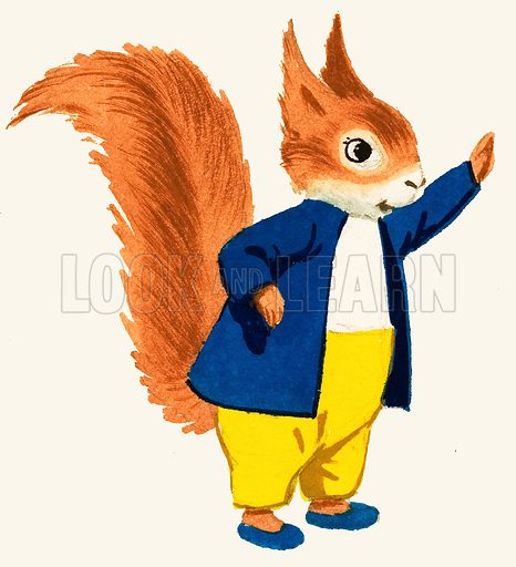 Tufty the road safety squirrel. Original artwork (dated 1968).