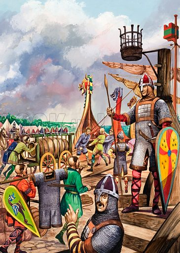 Norman invasion, picture, image, illustration