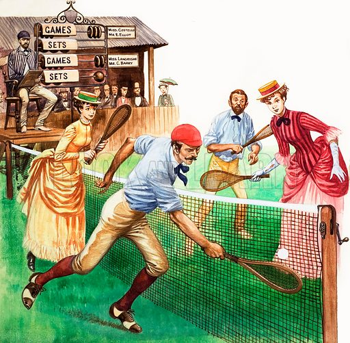 Edwardian tennis mixed doubles (picture, illustration: Peter Jackson)