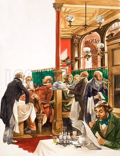 Once Upon a Time… Dining Out. Original artwork from Treasure no. 292 (17 August 1968).
