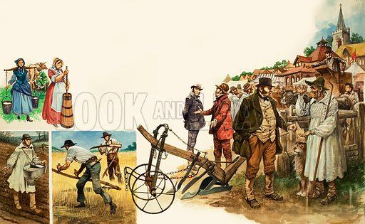Farming implements. Original artwork from Treasure (30/3/68).