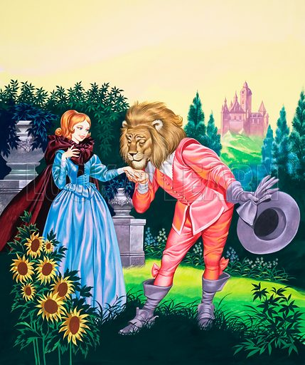 Beauty and the Beast. Original cover art from Once Upon a Time no. 14 (17 May 1969).