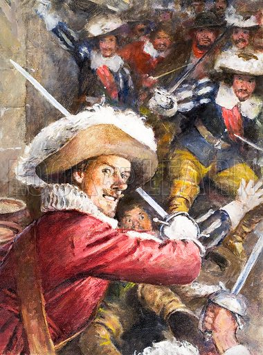 Cyrano de Bergerac. Original artwork from Look and Learn no. 35 (15 September 1962). Oil on board.