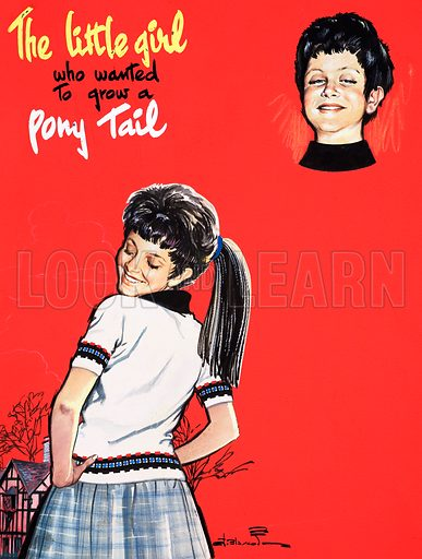 The Little Girl Who Wanted to Grow a Pony Tail. Original artwork from Teddy Bear (17 October 1966).