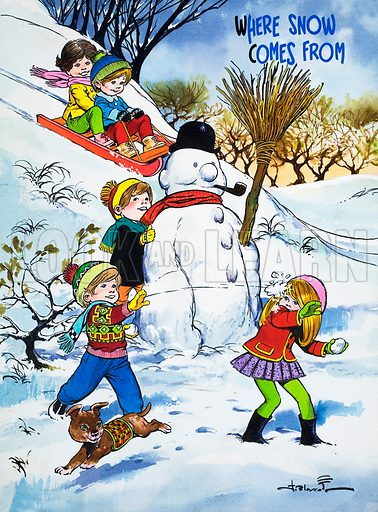 Where Snow Comes From. Original artwork from Teddy Bear (8 January 1966).