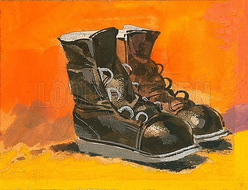 Boots. Original artwork.