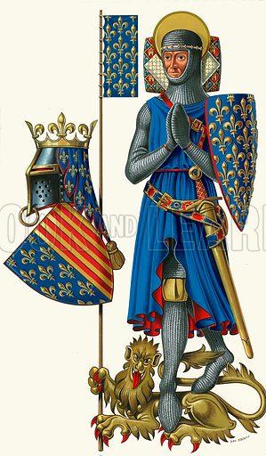 The Saintly Knight. Original artwork.