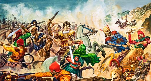 Alexander the Great at Issus – the man who smashed the Persian overlords of Israel.