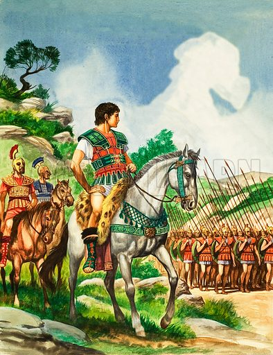 Alexander the Great with his army, 4th Century BC