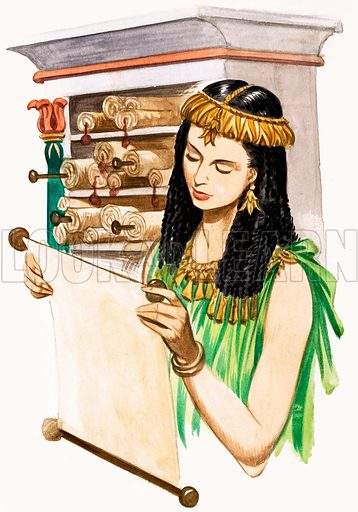 When They Were Young: Queen Cleopatra. Original artwork from Treasure no. 176 (28 May 1966). Originally published in black & white.