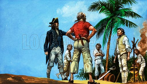Mutiny on the Bounty. Original artwork.