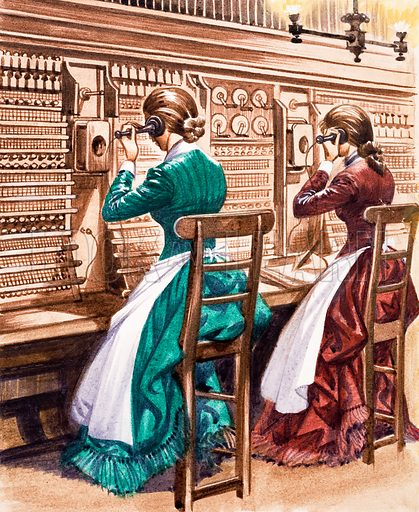 picture, telephone exchange