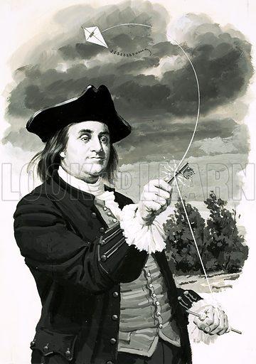Benjamin Franklin. Original artwork (dated 21 June).