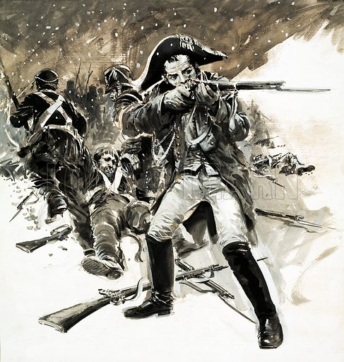Retreat: The Bravest of the Brave. Original artwork from Look and Learn no. 668 (2 November 1974).