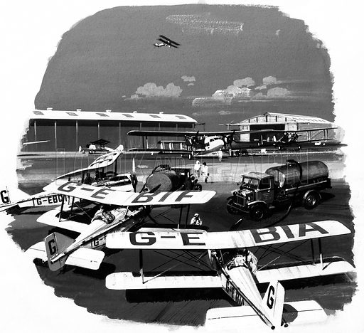 Writers in the Sky. Original artwork from Speed and Power no. 76 (29 August 1975).