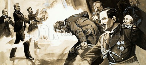 Rasputin: The Evil Genius. Original artwork from Look and Learn no. 130 (11 July 1964).