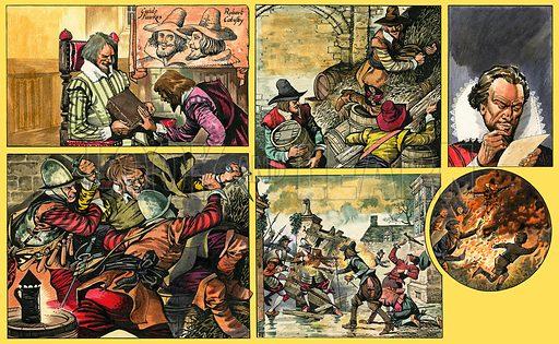Ranger Looks at Guy Fawkes. Original artwork from Ranger (30 October 1965).