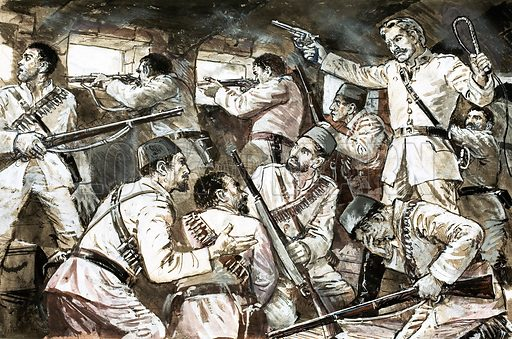 The Scene of the Crime: The Battle That Lost an Empire. Original artwork from Look and Learn no. 617 (10 November 1973).