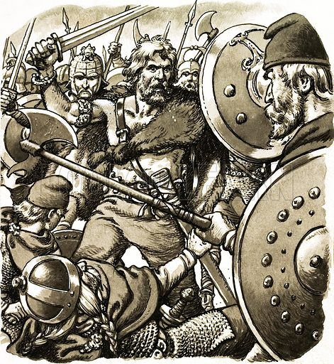 Alfred the Warrior King. Original artwork from Look and Learn Book 1982.