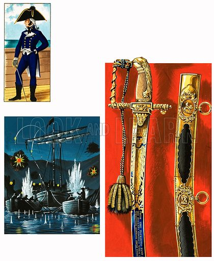 Swords That Tell a Story: Reward for a Wounded Hero. Original artwork from Look and Learn no. 991 (7 March 1981).