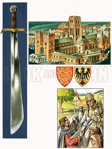 Swords That Tell a Story: A Symbol of Succession. Original artwork from Look and Learn no. 989 (21 February 1981).