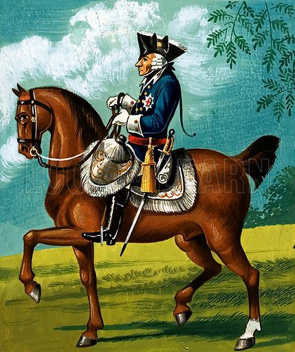 Frederick the Great, picture, image, illustration