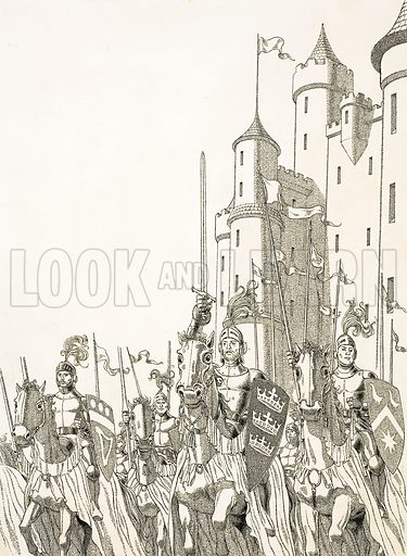 Great Quests: The Search for Camelot. Original artwork from Look and Learn no. 585 (31 March 1973).