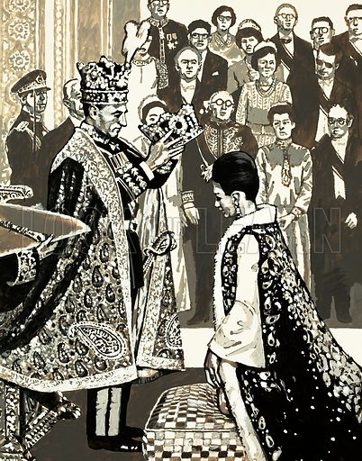 Modern Monarchies: The Cossack Who Became a King. Original artwork from Look and Learn no. 629 (2 February 1974).