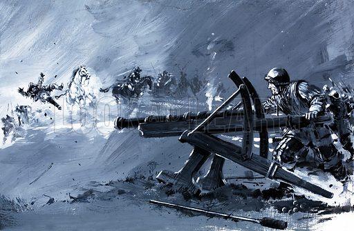 The Landsnecht's cannon, picture, image, illustration