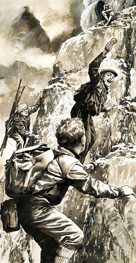 True Adventure: The Terror of Dark Peak. Original artwork from Look and Learn no. 264 (4 February 1967).