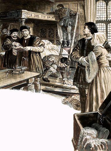 Richard Hunne's arrest, picture, image, illustration