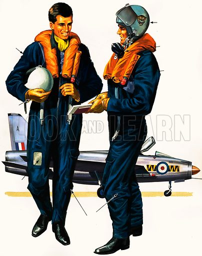 Who Are They? The Jet Pilot. ORiginal artwork from Treasure no. 91 (10 October 1964).