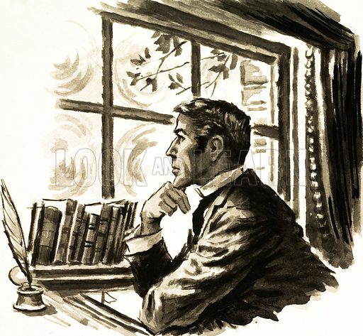 Arnold Bennett: a scene from A Man From The North. Original artwork from Look and Learn no. 151 (5 December 1964).